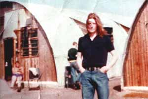 Bobby Sands in the cages of Longkesh.