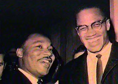Martin Luther King Jr with Malcolm X.