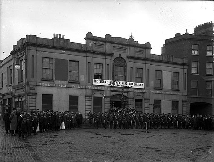 Irish Citizen Army, Liberty Hall, Dublin 1914.