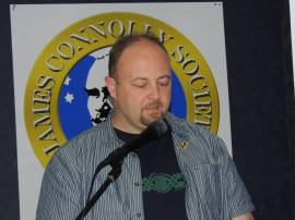Barry Monteith of the 1916 Societies delivers the keynote address at Connolly Conference 2013