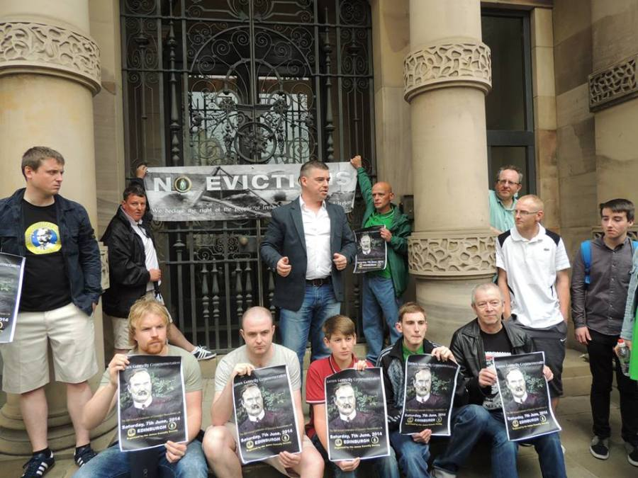 JCS anti-eviction picket at Bank of Scotland HQ in Edinburgh.