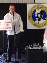 Gary O'Shea, founding member of Anti Fascist Action speaking at Connolly Conference 2014.