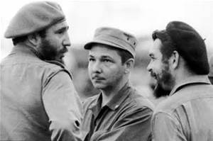 Raul Castro, flanked by Fidel and Che.