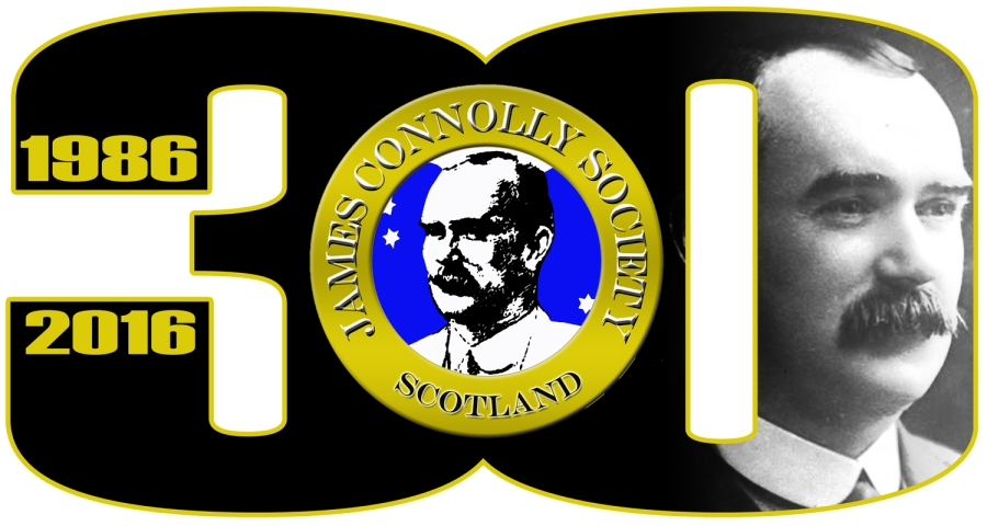 James Connolly Society's 30th Anniversary Logo