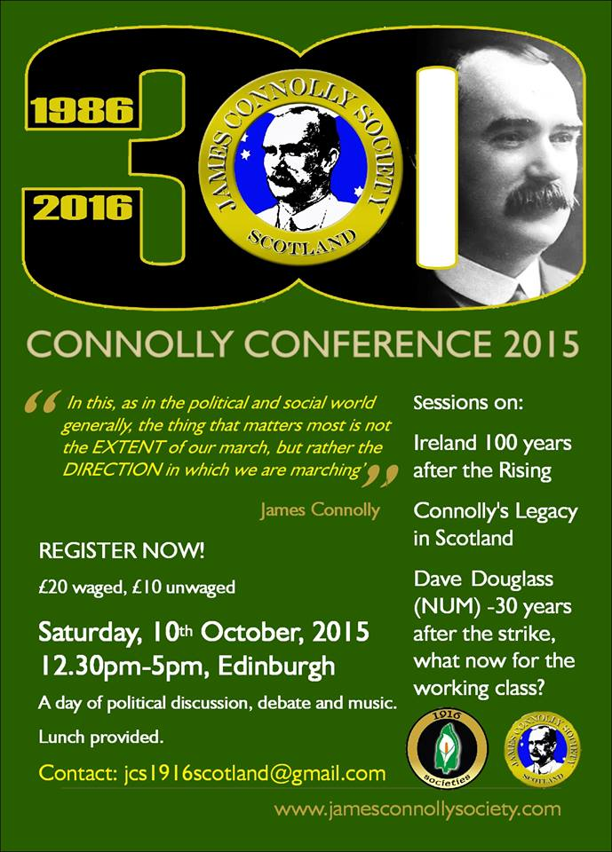 Official Connolly Conference 2015 poster.