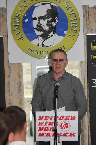 Gary O'Shea, founding member of Anti-Fascist Action, addressing Connolly Conference 2015.