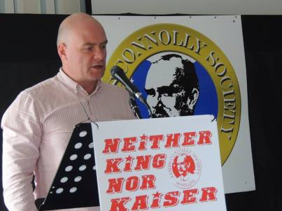 Steve Hedley addressing Connolly Conference 2014 in Edinburgh.