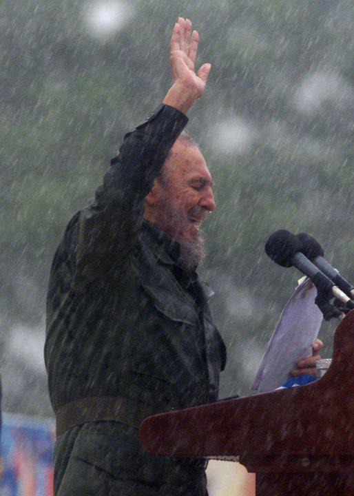 Castro in the rain